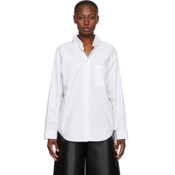 Balenciaga White Double Front Shirt