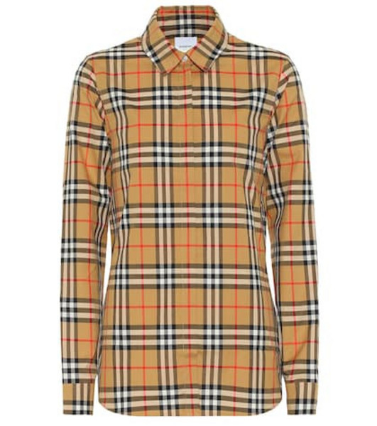 Burberry Vintage Check cotton shirt in beige