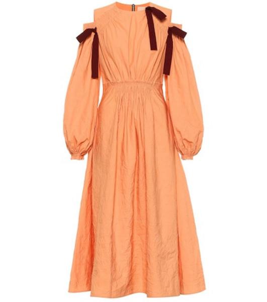 Roksanda Cotton midi dress in orange