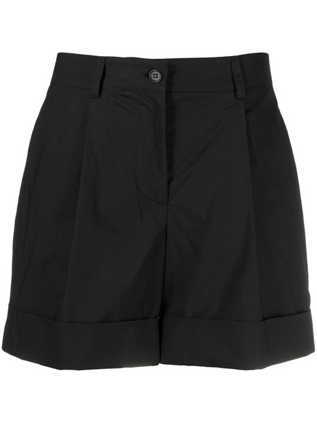 P.A.R.O.S.H. high-waisted shorts in black