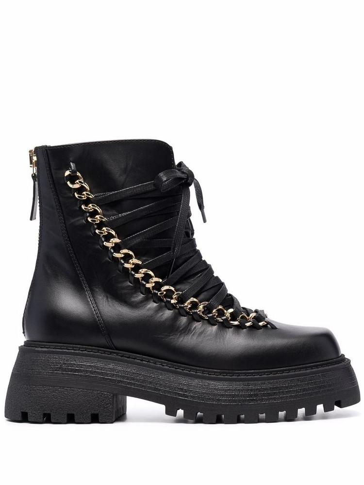 Alevì Alevì square-toe lace-up boots - Black
