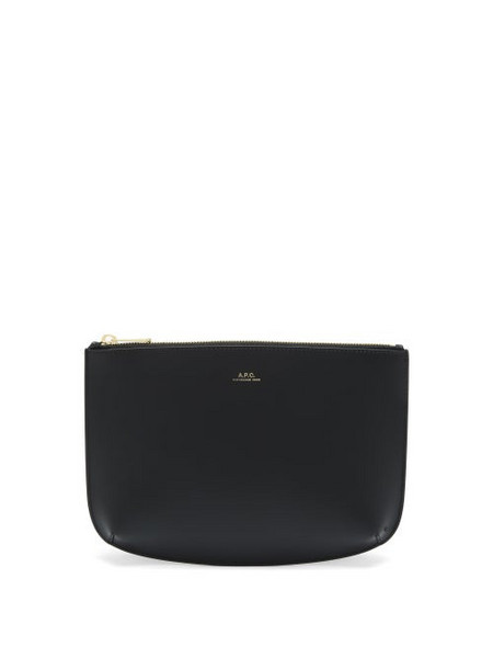 A.P.C. A.P.C. - Sarah Smooth-leather Pouch - Womens - Black