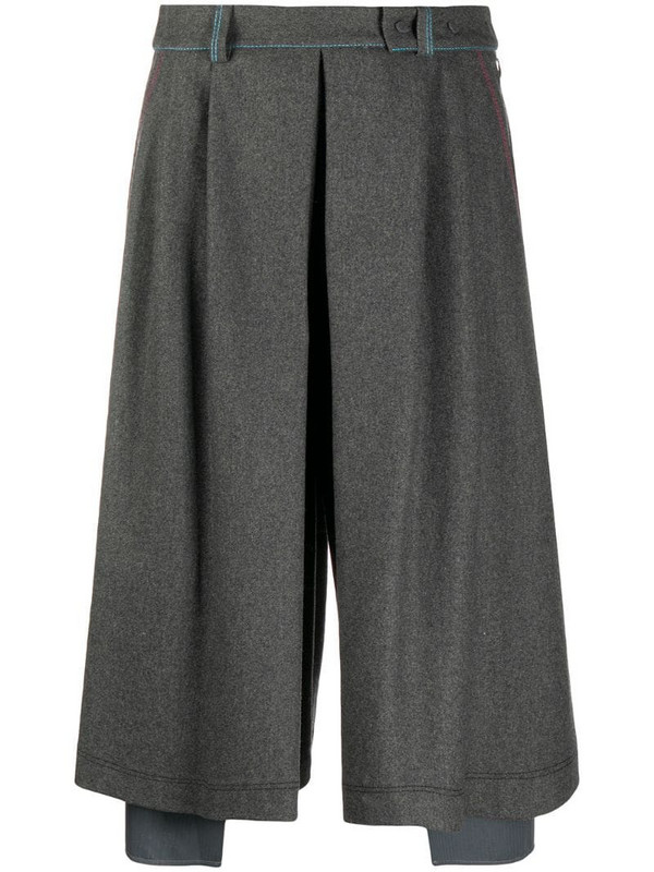Maison Flaneur pleated midi skirt in grey