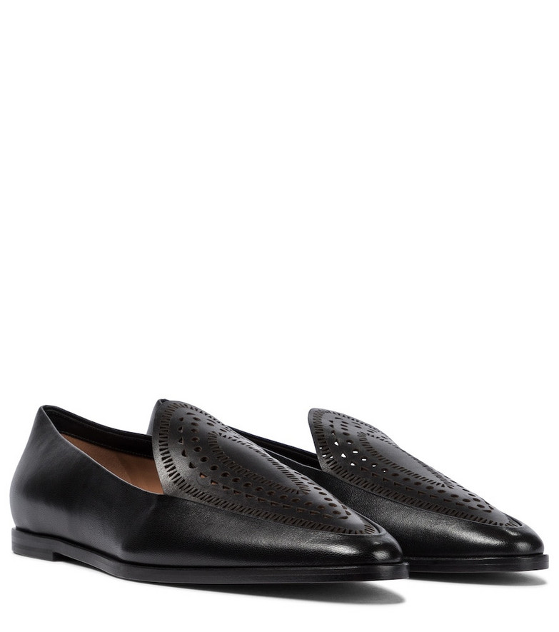 Alaïa Leather loafers in black