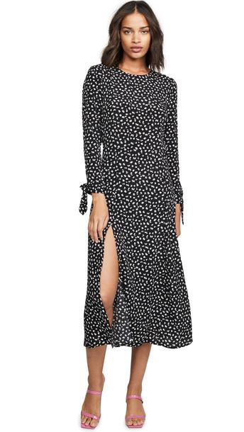 re:named re: named Catalina Midi Dress in black / white