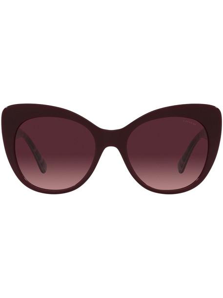 Coach sculpted cat-eye frame sunglasses - Brown