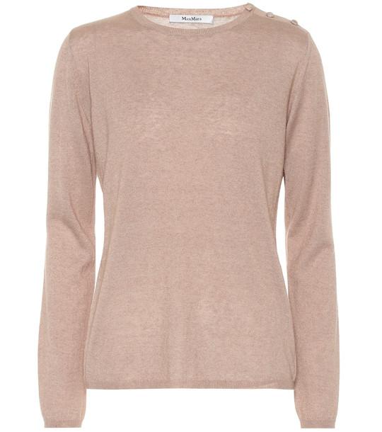 Max Mara Berma silk and cashmere sweater in beige
