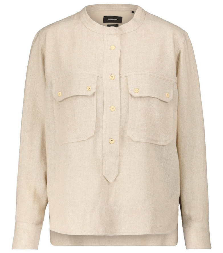 Isabel Marant, Étoile Tecoyo silk twill shirt in beige