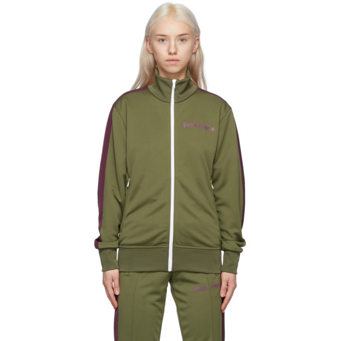 Palm Angels Green College Track Jacket in purple