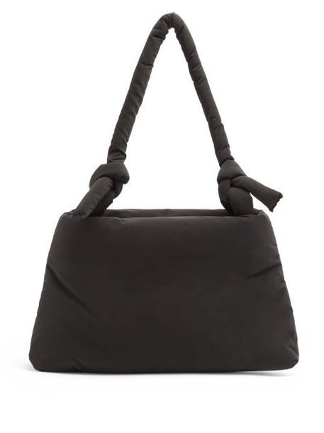 Kassl Editions - Lady Pop Oil Knotted-strap Padded Shoulder Bag - Womens - Black