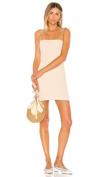 superdown Elisa Rib Mini Dress in Beige