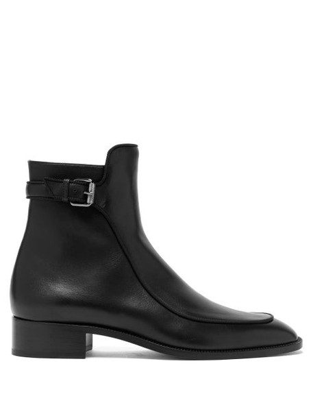 Christian Louboutin - Ecritoir Leather Ankle Boots - Womens - Black