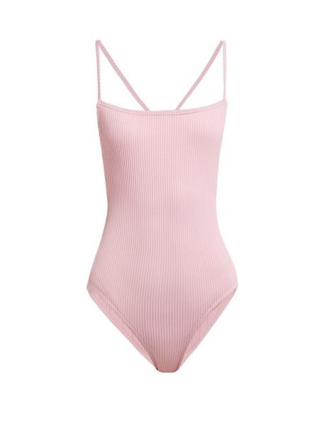 Pepper & Mayne - Ribbed Jersey Bodysuit - Womens - Light Pink