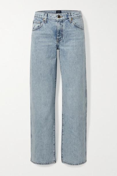 Khaite - Kerrie Mid-rise Straight-leg Jeans - Light denim