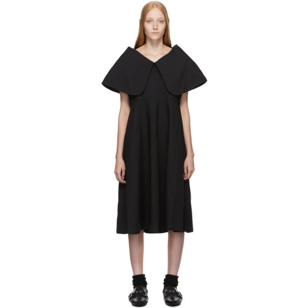 Comme des Garcons Comme des Garcons Black Oversized Collar Dress