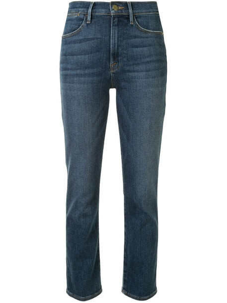 FRAME high ankle straight-leg jeans in blue