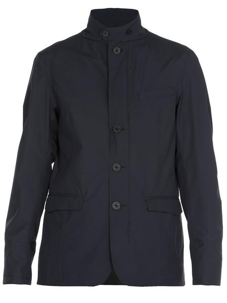 Herno Waterproof Overcoat in blue