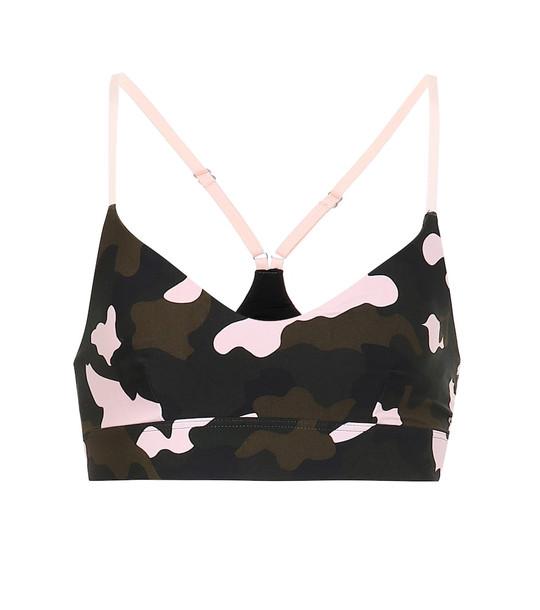The Upside Forest Camo Zoe sports bra in black