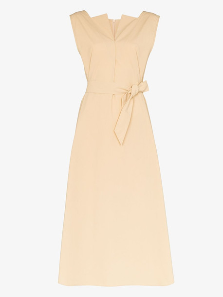 LVIR belted midi dress in neutrals