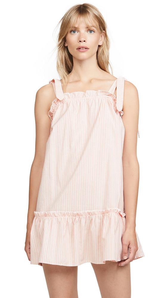 The Fifth Label Savannah Stripe Mini Dress in red / white
