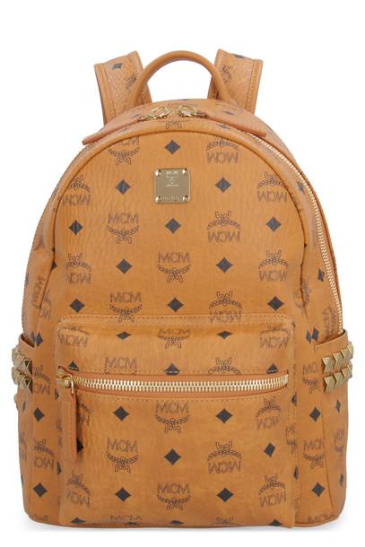 MCM Stark Side Studs Visetos Backpack in brown