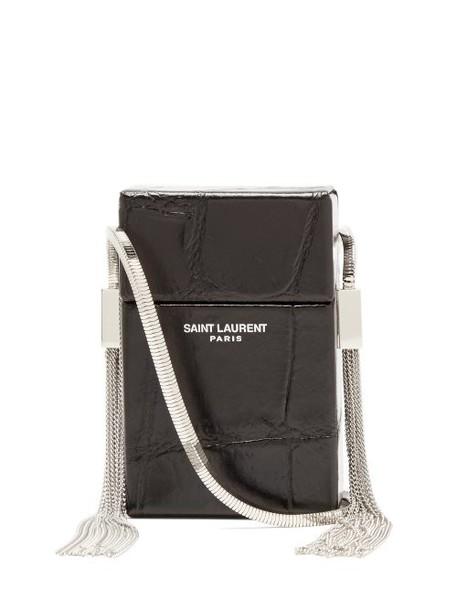 Saint Laurent - Smoking Minaudière Leather Cross Body Bag - Womens - Black