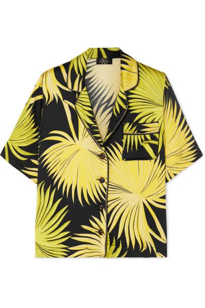 De La Vali - Kid Printed Satin Shirt - Green
