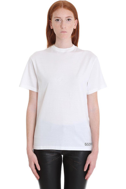 Golden Goose Golden T-shirt In White Cotton
