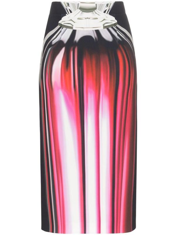 Mary Katrantzou Opium Perfume Print Pencil Skirt in pink
