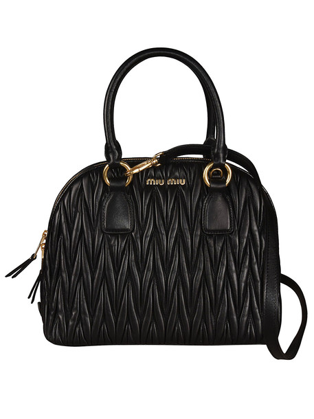 Miu Miu Quilted Tote in nero