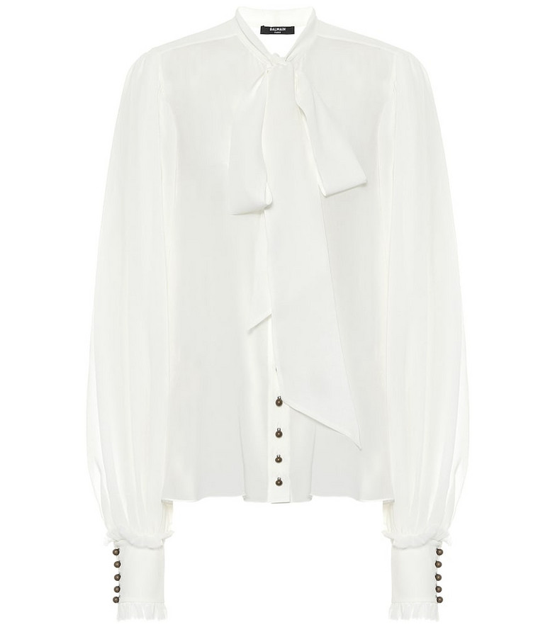 Balmain Silk blouse in white