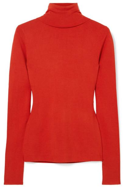 Joseph - Silk-blend Turtleneck Sweater - Red