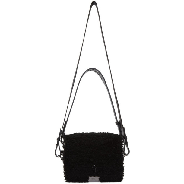 Off-White Black Shearling Montone Flap Bag