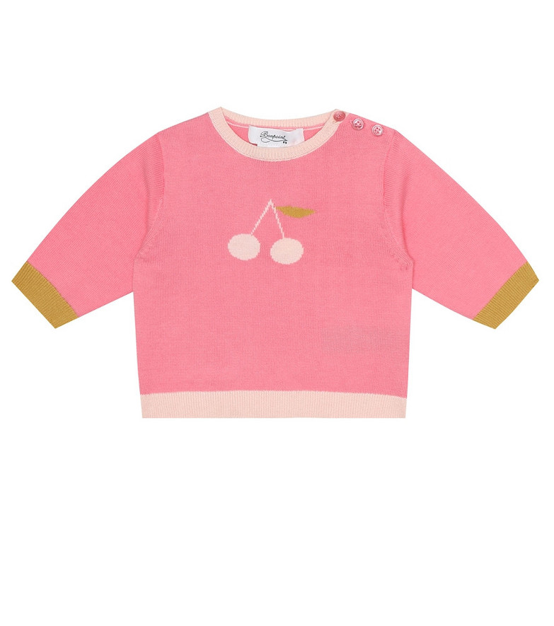 Bonpoint Baby cotton sweater in pink