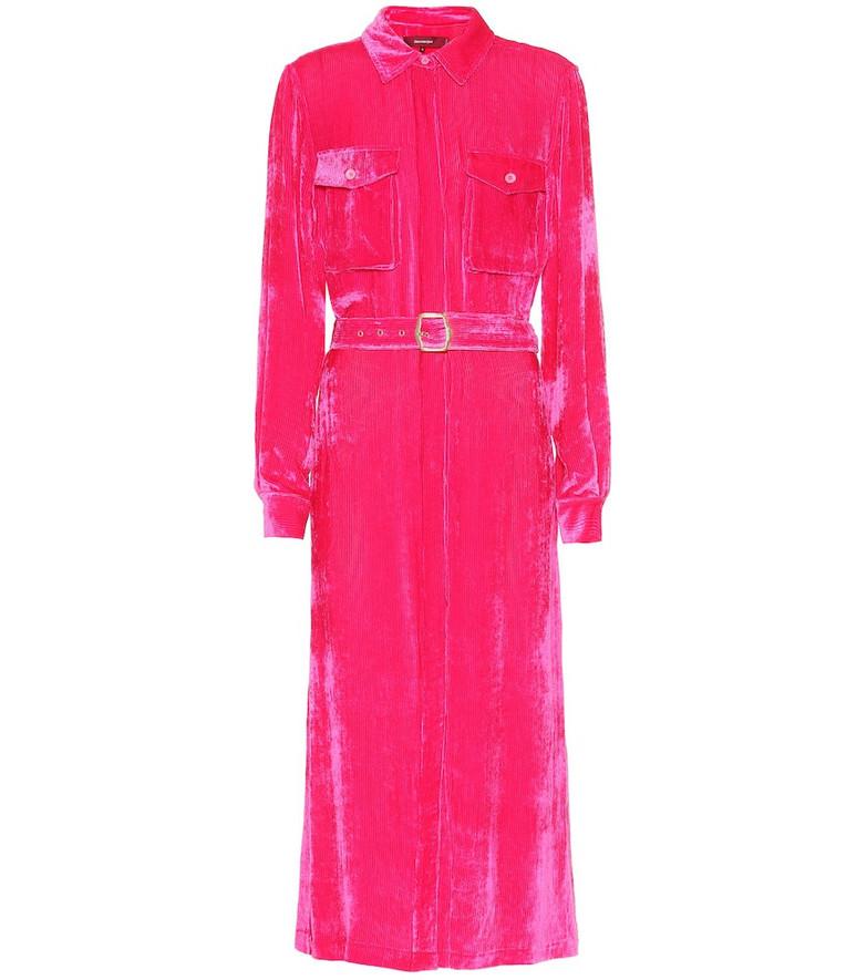 Sies Marjan Flipper silk and cotton corduroy dress in pink