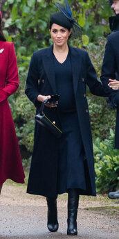dress,knitted dress,midi dress,meghan markle,celebrity,fall outfits,coat