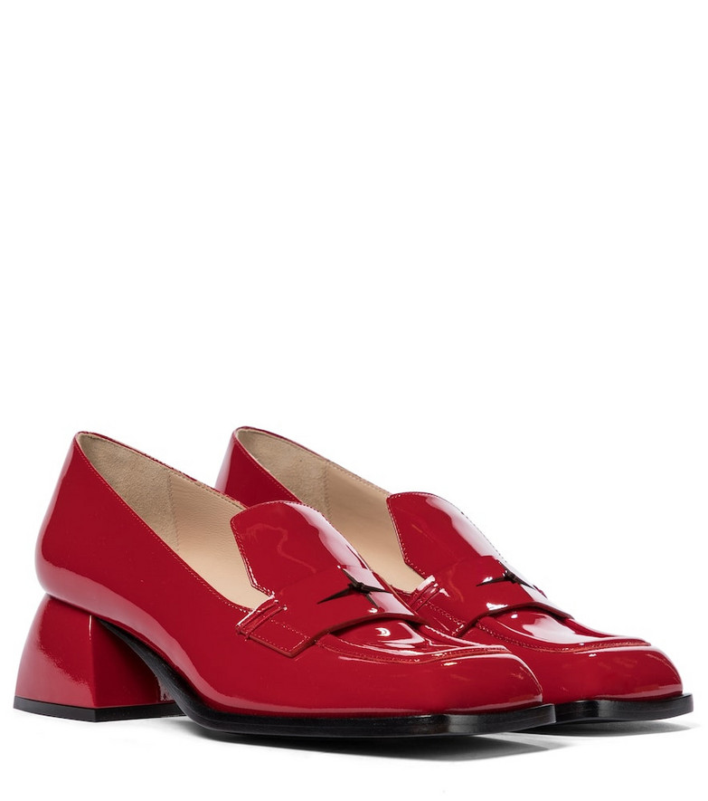 Nodaleto Bulla Cara patent leather loafer pumps in red
