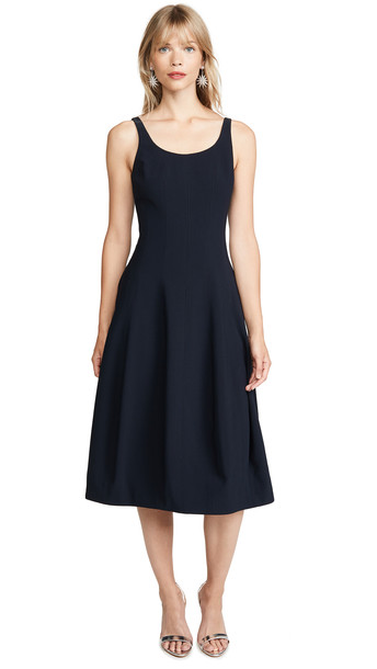 Halston Heritage Sleeveless Dress in navy