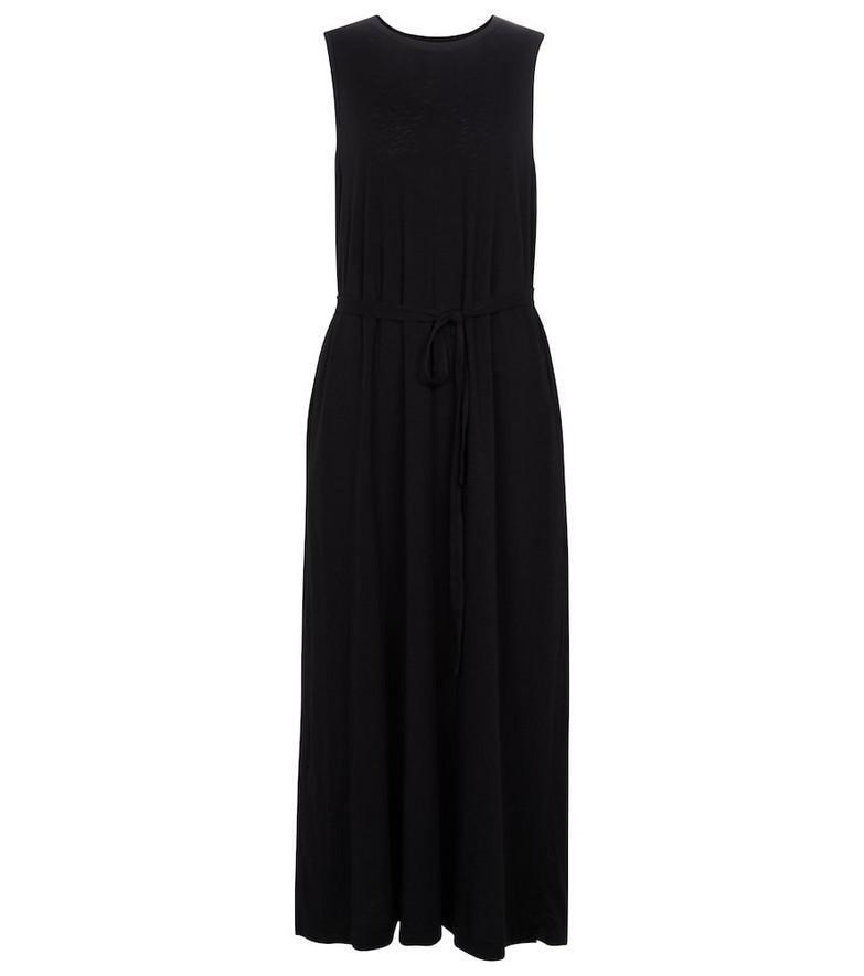 Velvet Edith cotton maxi dress in black