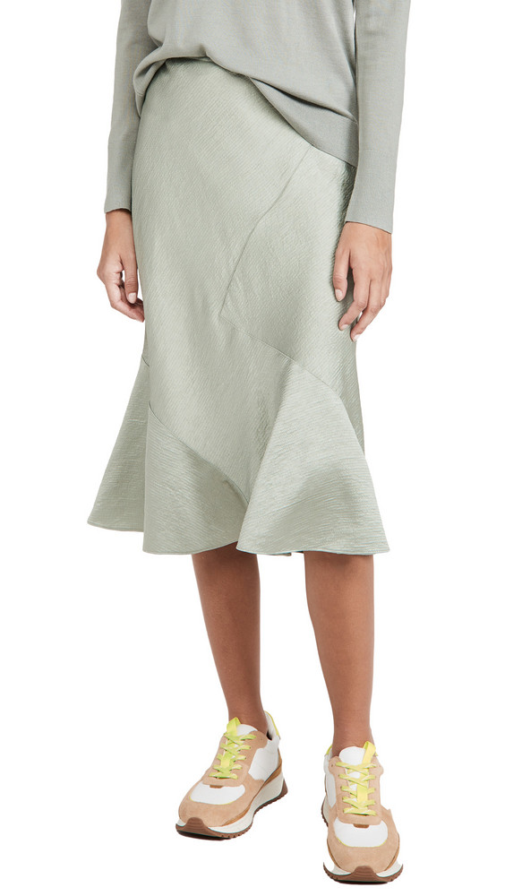 Club Monaco Seamed Slip Skirt in green