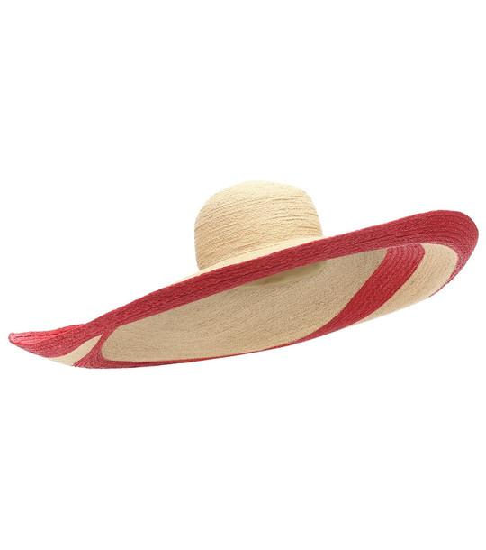 Lola Hats Smoke Rings raffia hat in neutrals