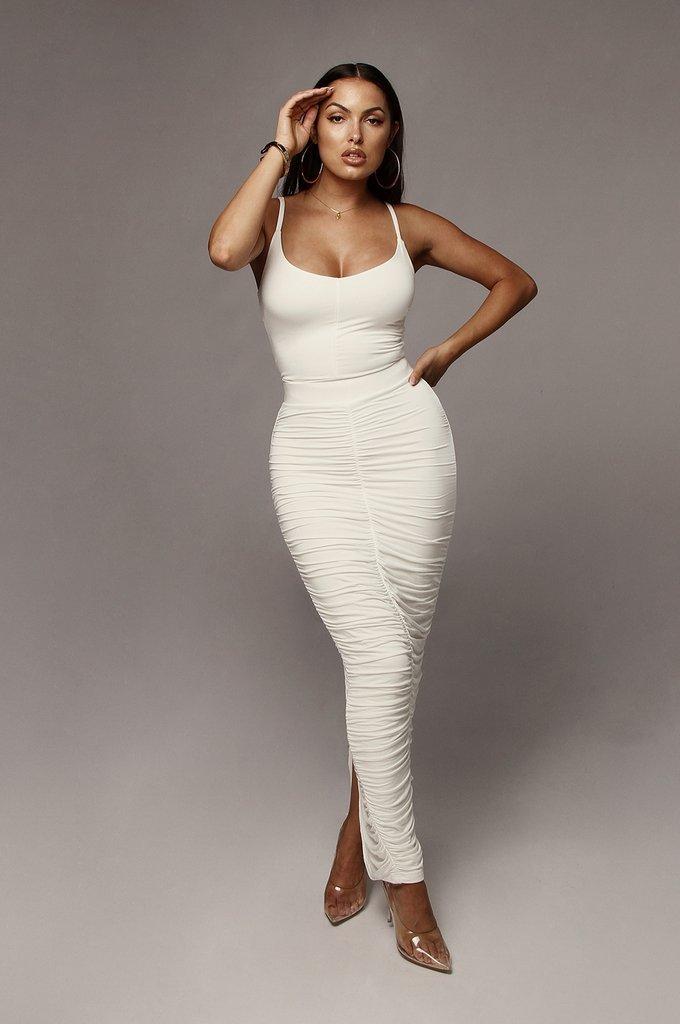 Ivory Maloh Ruched Skirt