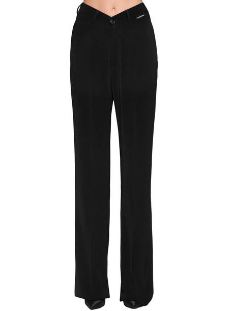 BALENCIAGA V Waist Crepe Twill Pants in black
