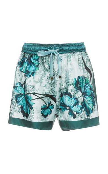 For Restless Sleepers Glauco Floral-Print Silk Shorts Size: XS in multi