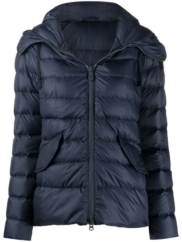 Peuterey hooded puffer jacket in blue