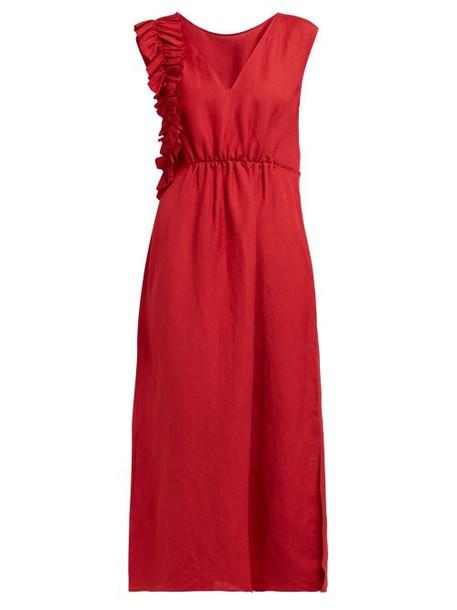 Carl Kapp - Verge Ruffled Linen Dress - Womens - Red