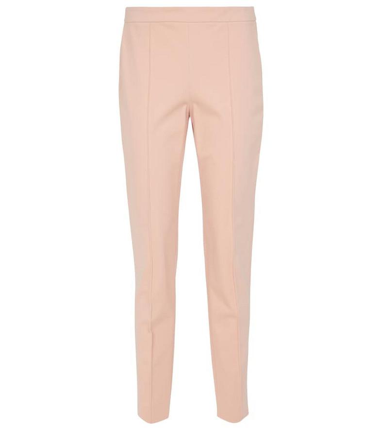 Loro Piana Stretch-cotton cigarette pants in pink