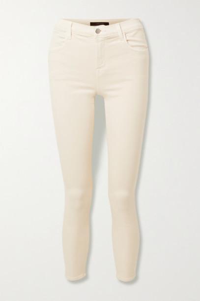 J Brand - Alana Cropped High-rise Skinny Jeans - Cream