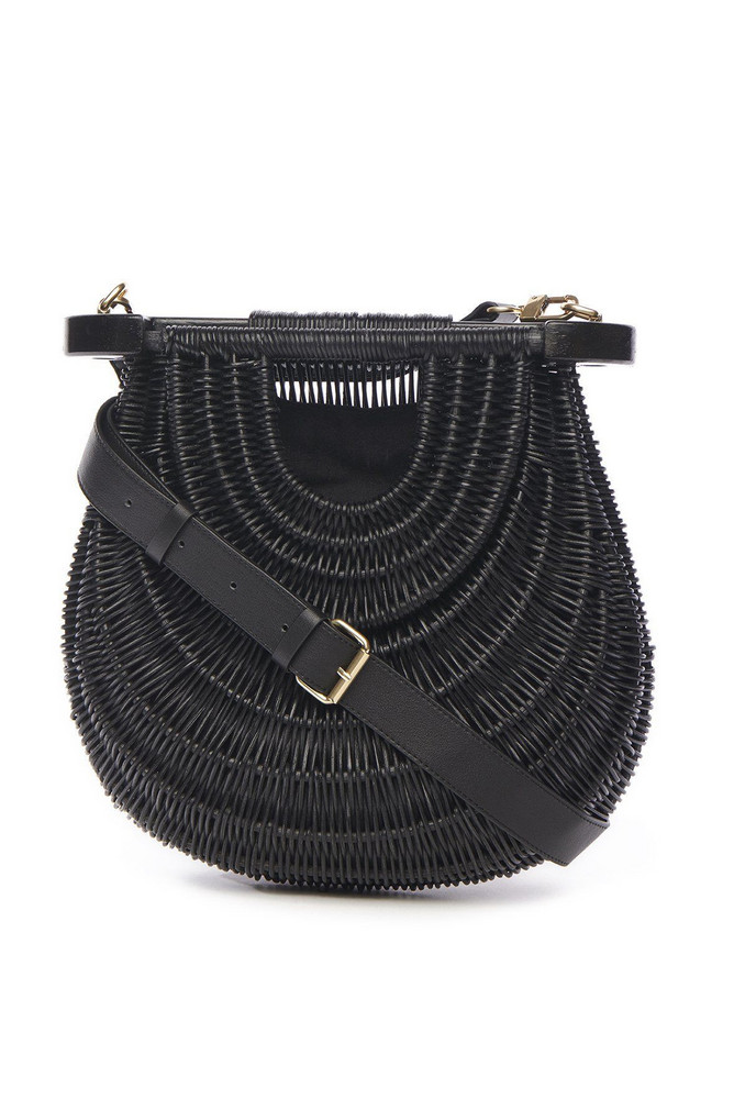 Staud GOLDIE BAG | BLACK RATAN
