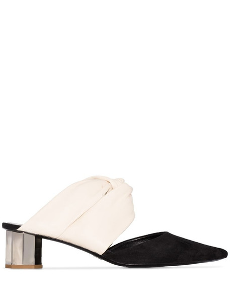 Proenza Schouler two-tone 40mm mules in black